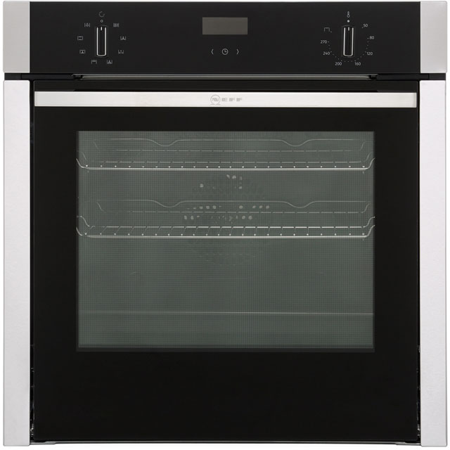 NEFF N50 Slide&Hide B3ACE0AN0B Built In Electric Single Oven - Stainless Steel - B3ACE0AN0B_SS - 1