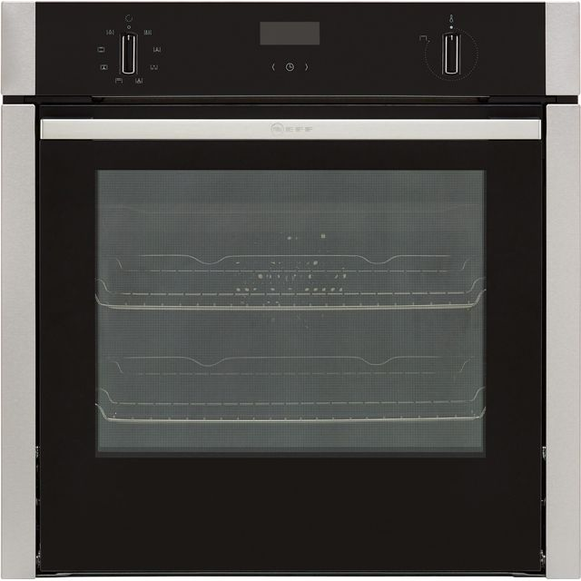 NEFF N50 Slide&Hide B4ACF1AN0B Built In Electric Single Oven - Stainless Steel - A Rated - B4ACF1AN0B_SS - 1