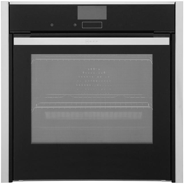 NEFF N90 Slide&Hide B57VS24N0B Built In Electric Single Oven - Stainless Steel - A Rated