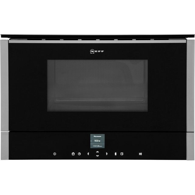 NEFF N70 C17GR00N0B Built In Microwave With Grill - Stainless Steel - C17GR00N0B_SS - 1