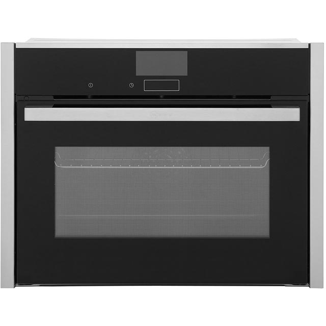 NEFF N90 C27CS22N0B Built In Compact Electric Single Oven - Stainless Steel - A+ Rated - C27CS22N0B_SS - 1