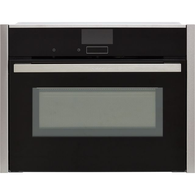 NEFF N90 C27MS22H0B Wifi Connected Built In Compact Electric Single Oven with Microwave Function - Stainless Steel