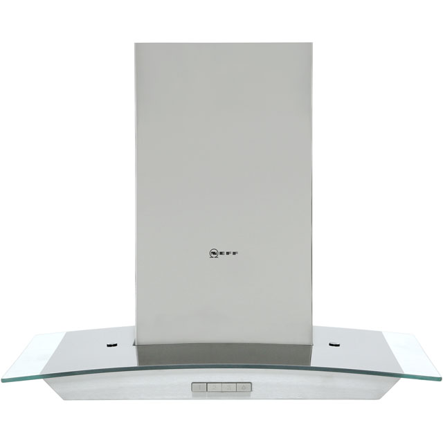 NEFF N30 D64ABC0N0B 60 cm Chimney Cooker Hood - Stainless Steel - A Rated - D64ABC0N0B_SS - 1
