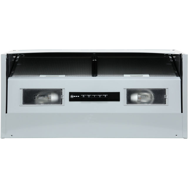 NEFF N30 D64MAC1X0B 60 cm Integrated Cooker Hood - Silver - B Rated - D64MAC1X0B_SI - 1