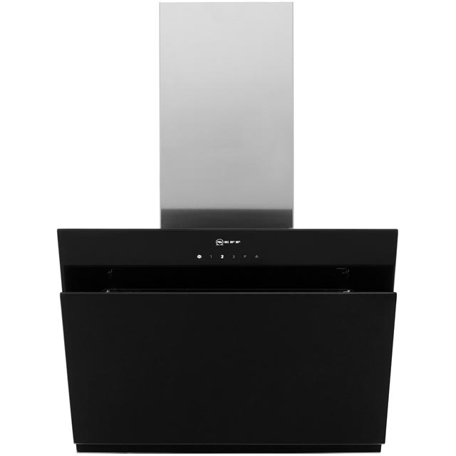 NEFF N50 D65IHM1S0B 60 cm Chimney Cooker Hood - Black - A Rated - D65IHM1S0B_BK - 1