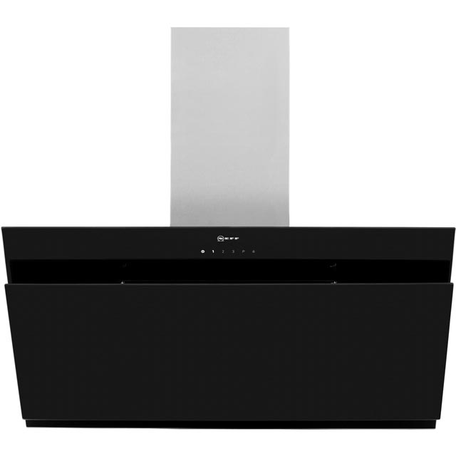 NEFF N50 90 cm Chimney Cooker Hood - Black - A Rated