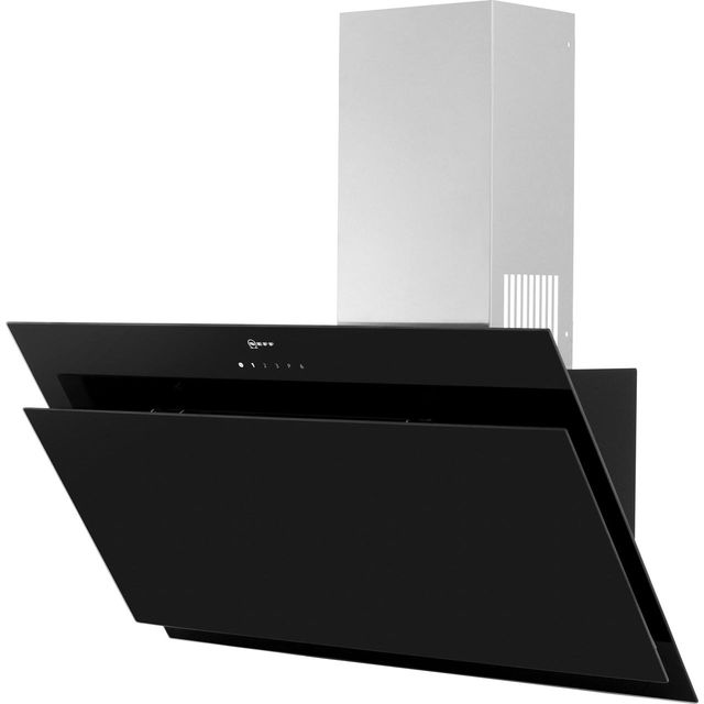 NEFF N50 D95IHM1S0B 89 cm Angled Chimney Cooker Hood - Black - B Rated