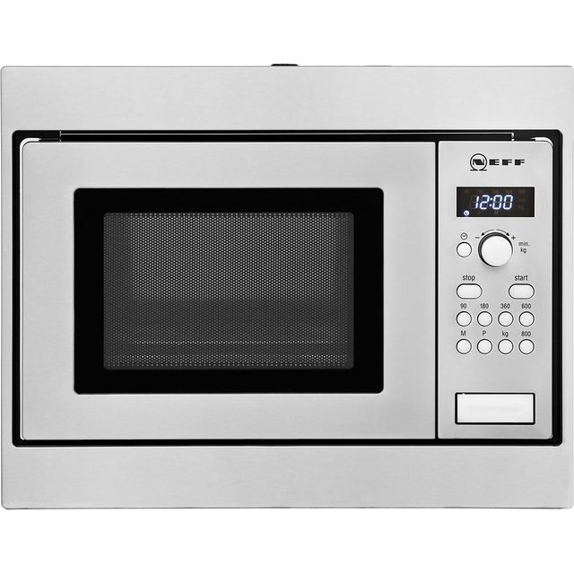 NEFF Classic Collection 3 H53W50N3GB Built In Compact Microwave - Stainless Steel - H53W50N3GB_SS - 1