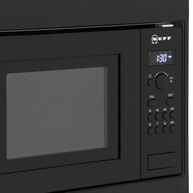 NEFF Classic Collection 3 H53W50N3GB Built In Compact Microwave - Stainless Steel - H53W50N3GB_SS - 4