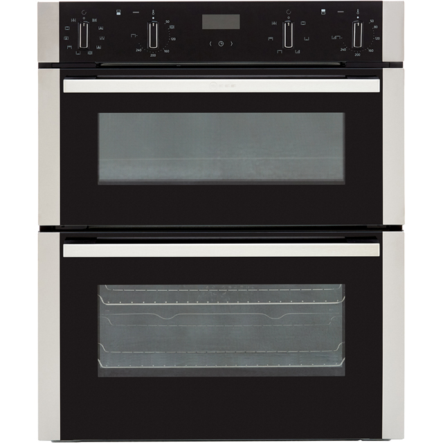 NEFF N50 J1ACE4HN0B Built Under Double Oven - Stainless Steel - A/B Rated - J1ACE4HN0B_SS - 1