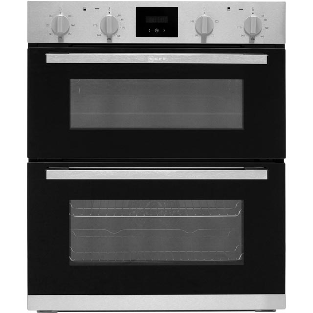NEFF J1HCC0AN0B Built Under Double Oven - Stainless Steel - A/B Rated - J1HCC0AN0B_SS - 1