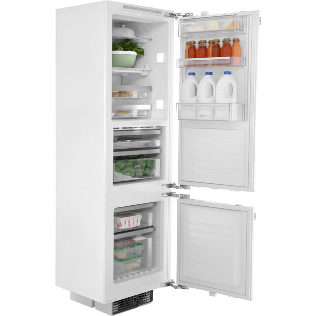 NEFF N90 K8345X0 Integrated 70/30 Frost Free Fridge Freezer with Fixed Door Fixing Kit - White - A++ Rated - K8345X0 - 1