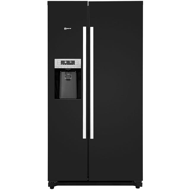 NEFF N50 KA3902B20G American Fridge Freezer - Black - A+ Rated Best Price, Cheapest Prices