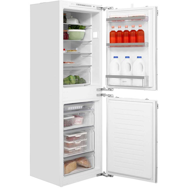 NEFF N50 KI5852F30G Integrated 50/50 Fridge Freezer with Fixed Door Fixing Kit - White - A++ Rated - KI5852F30G_WH - 1