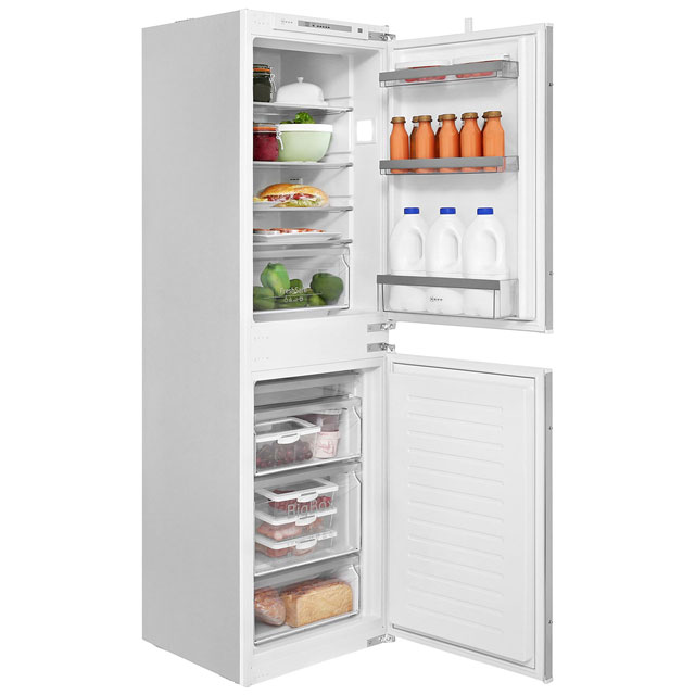 NEFF N50 KI5852S30G Integrated 50/50 Fridge Freezer with Sliding Door Fixing Kit - White - A++ Rated - KI5852S30G_WH - 1