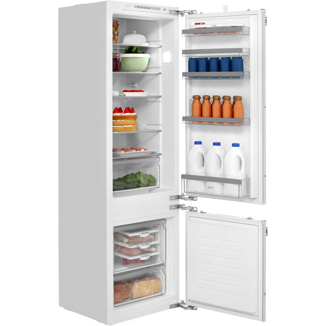 NEFF N50 KI5872F30G Integrated 70/30 Fridge Freezer with Fixed Door Fixing Kit - White - A++ Rated - KI5872F30G_WH - 1