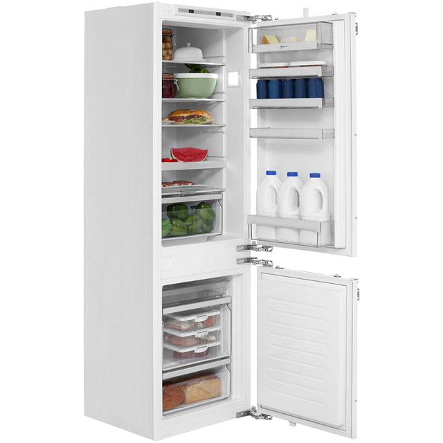 NEFF N70 KI6863F30G Integrated 60/40 Fridge Freezer with Fixed Door Fixing Kit - White - A++ Rated - KI6863F30G_WH - 1