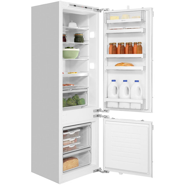 NEFF N70 KI6873F30G Integrated 70/30 Fridge Freezer with Fixed Door Fixing Kit - White - A++ Rated - KI6873F30G_WH - 1