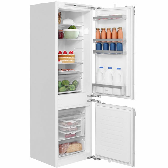 NEFF N50 KI7862F30G Integrated 60/40 Frost Free Fridge Freezer with Fixed Door Fixing Kit - White - A++ Rated - KI7862F30G_WH - 1