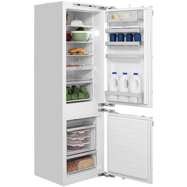 NEFF N70 KI7863D30G Integrated 60/40 Frost Free Fridge Freezer with Fixed Door Fixing Kit - White - A++ Rated - KI7863D30G_WH - 1