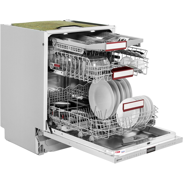 NEFF N90 S517T80D1G Built In Standard Dishwasher - Stainless Steel - S517T80D1G_SS - 5