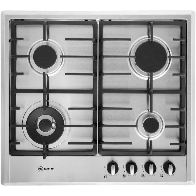 Neff T22S46N0 58cm Gas Hob - Stainless Steel