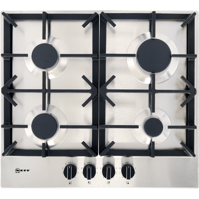 NEFF N70 T26DS49N0 Gas Hob – Stainless Steel, Stainless Steel