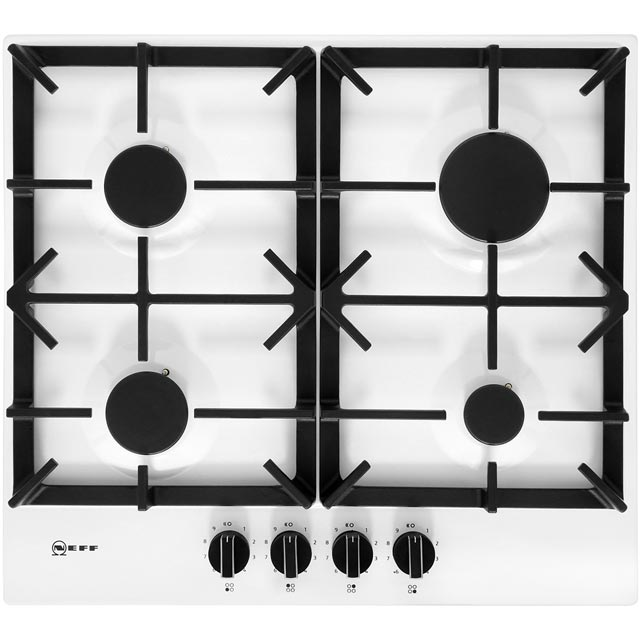 NEFF N70 T26DS49W0 58cm Gas Hob - White - T26DS49W0_WH - 1