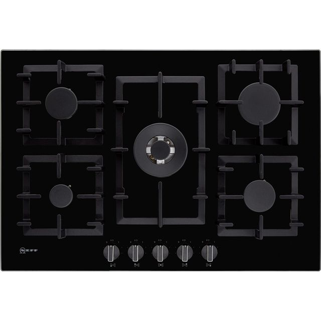 NEFF N70 T27CA59S0 Built In Gas Hob - Black - T27CA59S0_BK - 1