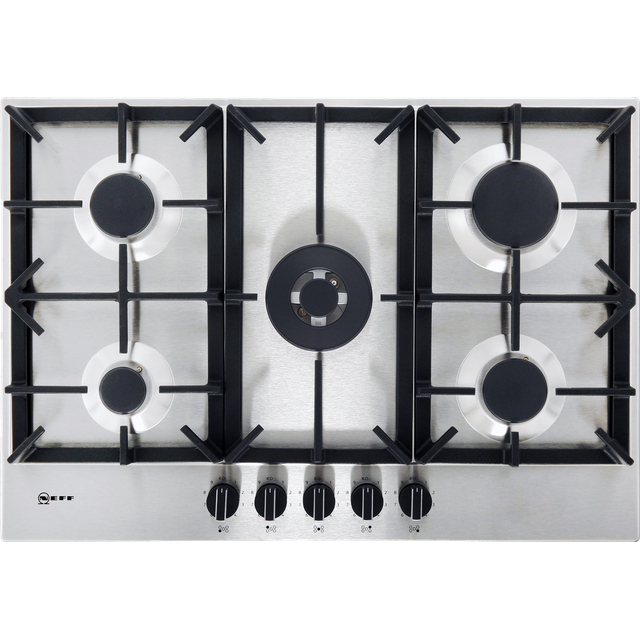 NEFF N70 T27DS59N0 Built In Gas Hob - Stainless Steel - T27DS59N0_SS - 1
