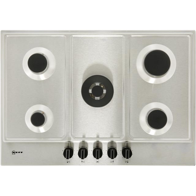NEFF N70 T27DS59N0 Built In Gas Hob - Stainless Steel - T27DS59N0_SS - 3