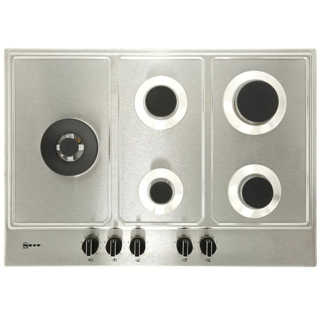 NEFF N70 T27DS79N0 Built In Gas Hob - Stainless Steel - T27DS79N0_SS - 3