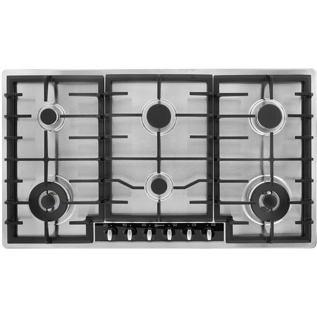 Neff T29S96N1 92cm Gas Hob - Stainless Steel