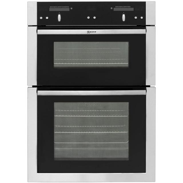 neff u16e74n5gb built in electric double oven 59cm double cavity stainless ebay. Black Bedroom Furniture Sets. Home Design Ideas