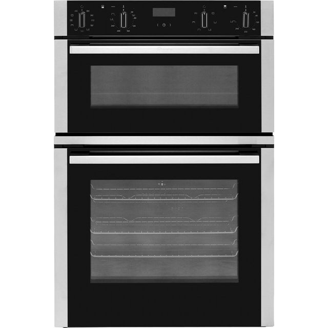 NEFF N50 U1ACE5HN0B Built In Double Oven - Stainless Steel - A/B Rated - U1ACE5HN0B_BK - 1