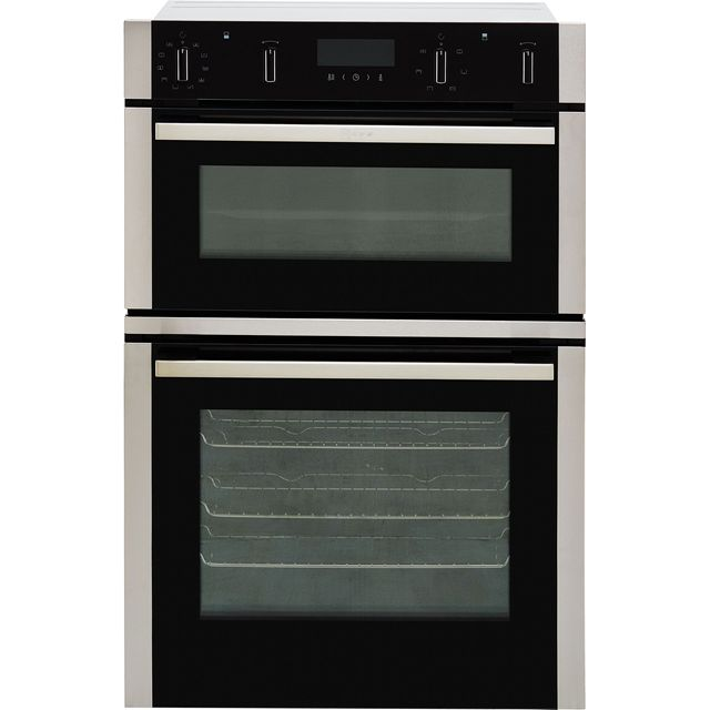 NEFF N50 U2ACM7HN0B Built In Double Oven - Stainless Steel - A/B Rated - U2ACM7HN0B_SS - 1