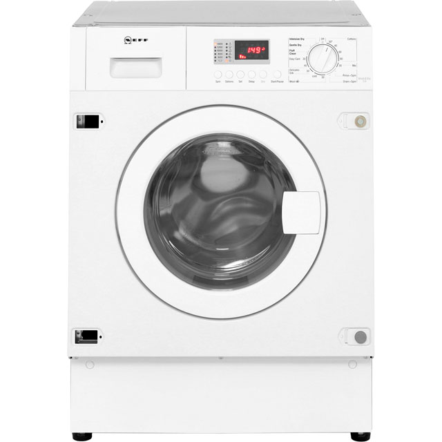 NEFF V6320X1GB Built In 7Kg / 4Kg Washer Dryer - White - V6320X1GB_WH - 3