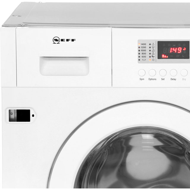 NEFF V6320X1GB Built In 7Kg / 4Kg Washer Dryer - White - V6320X1GB_WH - 4