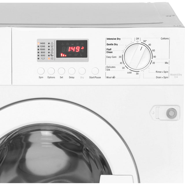 NEFF V6320X1GB Built In 7Kg / 4Kg Washer Dryer - White - V6320X1GB_WH - 5