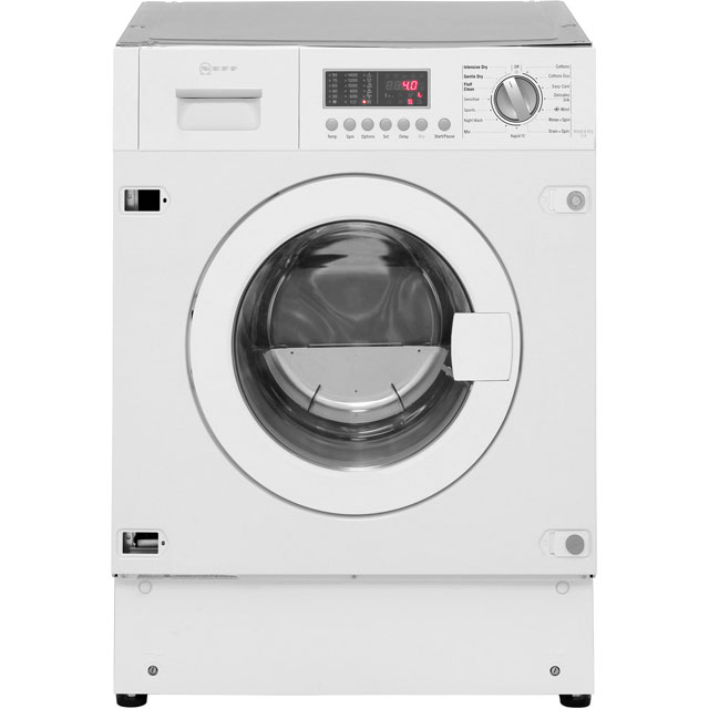 NEFF V6540X1GB Built In 7Kg / 4Kg Washer Dryer - White - V6540X1GB_WH - 1