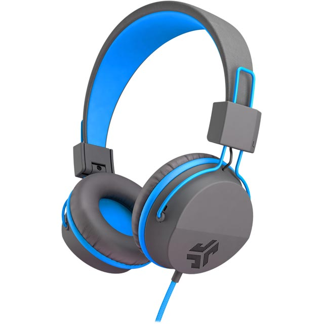 JLAB Neon On-ear Headphones - Grey / Blue - NEONHP-GRYBLU-BOX - 1