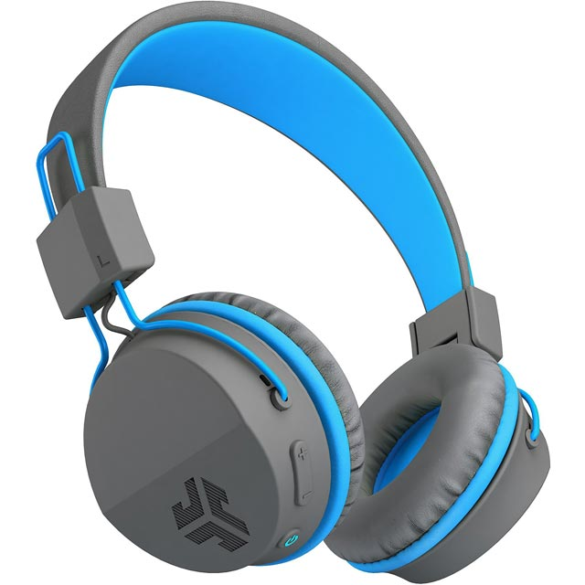 JLAB Neon On-ear Wireless Headphones - Grey / Blue - NEONHPBT-GRYBLU-BOX - 1