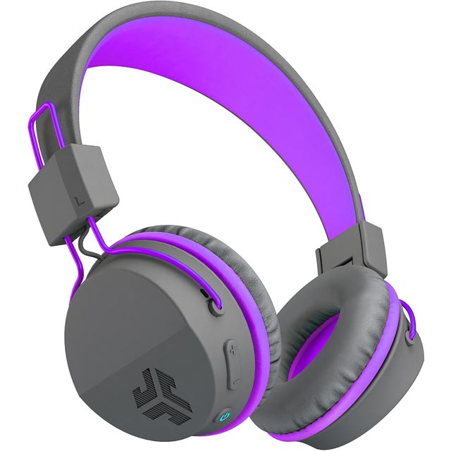 JLAB Neon On-ear Wireless Headphones - Grey / Purple - NEONHPBT-GRYPRPL-BOX - 1