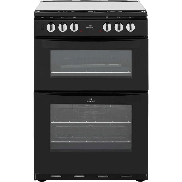 Newworld NW601DFDOL 60cm Dual Fuel Cooker - Black - A/A Rated