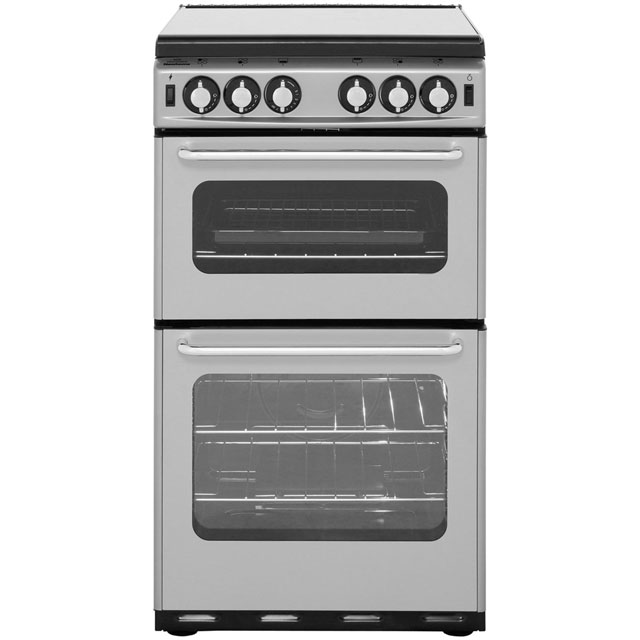 Newworld Newhome 50cm Gas Cooker - Silver - B Rated