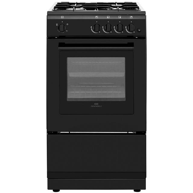 Newworld 50GSO Gas Cooker - Black - 50GSO_BK - 1