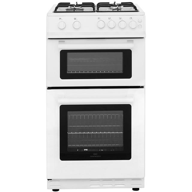 Newworld 50GTC Gas Cooker with Full Width Gas Grill - White - A Rated