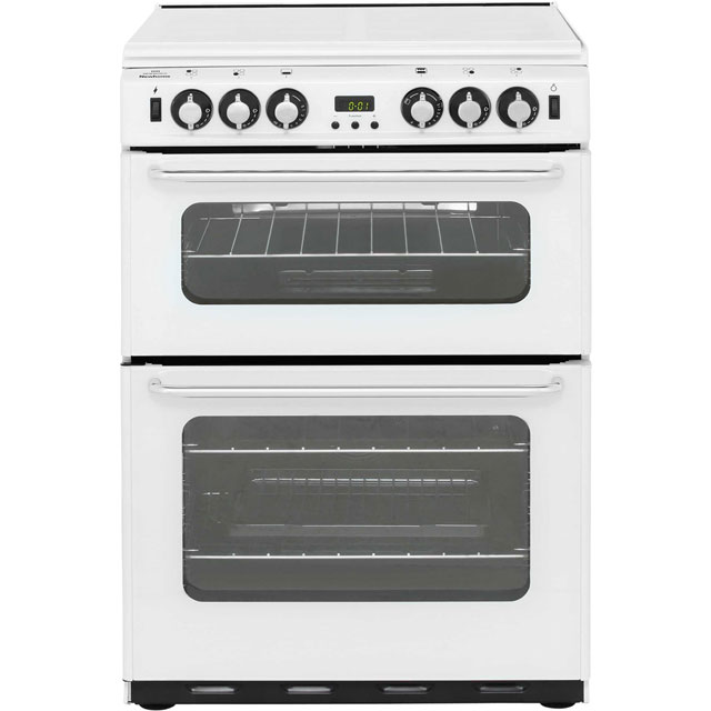 Newworld Newhome 600TSIDOM 60cm Gas Cooker with Electric Grill - White - A/A Rated - 600TSIDOM_WH - 1
