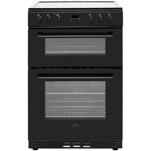 Newworld 60cm Electric Cooker with Ceramic Hob - Black - B/A Rated