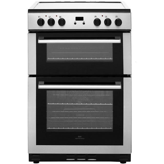 Newworld 60cm Electric Cooker with Ceramic Hob - Stainless Steel - B/A Rated